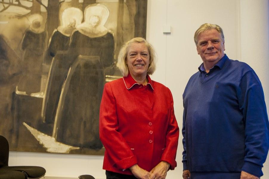Interview Leefbaar Huizen (Rik de Bruijn) en Dorpsbelangen (Marian Rebel) - Foto: Bob Awick